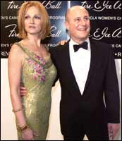 Ronald O Perelman with wife (actress) Ellen Barkin. Photograph: Kevin Winter/Getty Images