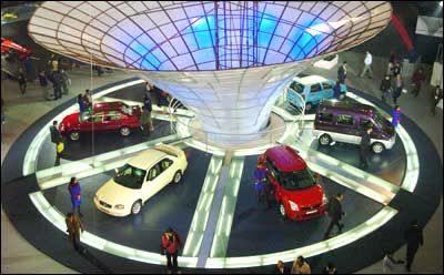 The eighth Auto Expo in New delhi. Photograph: AFP/Getty Images
