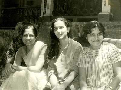 (From left to right) Kumari Shibulal, Rohini Nilekani and Sudha Murthy. Photograph, courtesy Infosys Technologies.