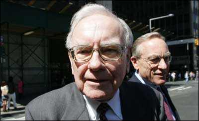 Billionaire and CEO of Berkshire Hathway Inc Warren Buffet. Photograph: David Turnley/Getty Images