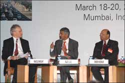 From left: Marcus Wright, Rajiv Lall and Dr Dinesh Keskar