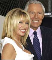 Actress Suzanne Somers and husband Alan Hamel. Photograph: Vince Bucci/Getty Images