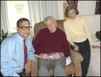 The author with Professor Galbraith and his wife Catherine