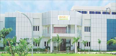 Lifecell, India's first stem cell bank, in Chennai.