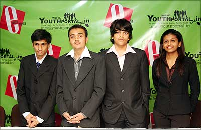 (L to R) Vatsal Thakkar, Director, EYM, Samyak Chakrabharty, MD, EYM, Bhavyash Agarwaal, Director, EYM, Upasana Makati, Creative Manager, EYM