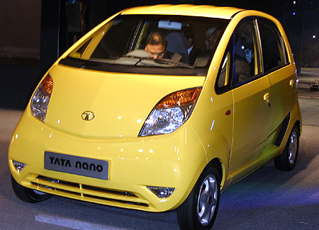 Tata Nano. Photograph: Rajesh Karkera