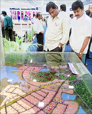 Model of a software park in Chennai.