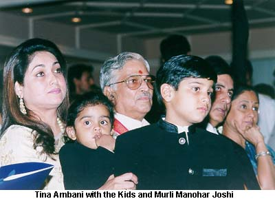 Tina Ambani with her sons.