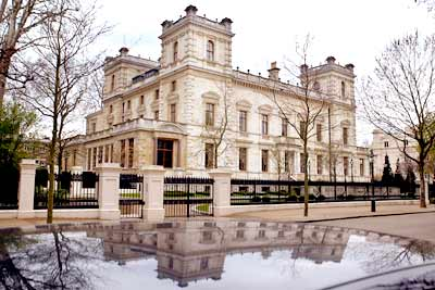 L N Mittal's mansion at Kensington Palace Gardens in London.
