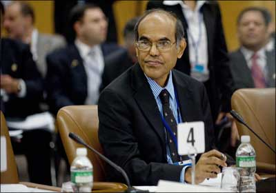 Governor of the Reserve Bank of India Duvvuri Subbarao. | Nicholas Kamm/AFP/Getty Images