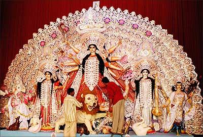 Durga idol.
