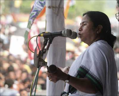 Image: Mamata Banerjee, chief of the regional Trinamool Congress party. | Photograph: Jayanta Shaw/Reuters