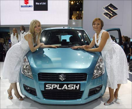 Models pose next to the new Splash (also known as the Ritz).