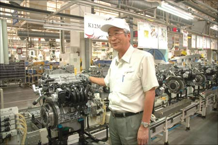Shinzo Nakanishi, Maruti Suzuki managing director and CEO, at the company's Gurgaon plant.