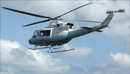 An undated handout photo of a Bell 412 helicopter.