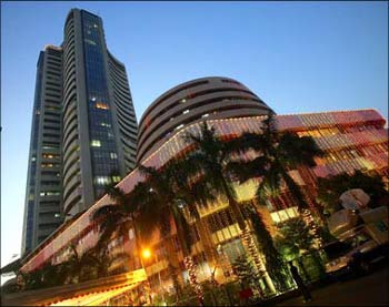 The Bombay Stock Exchange in Mumbai.