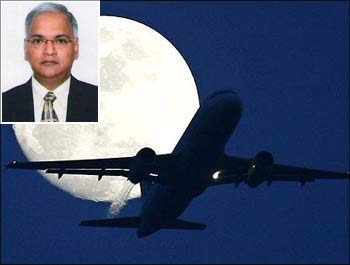 Air India is in big trouble. (inset) AI CMD Arvind Jadhav