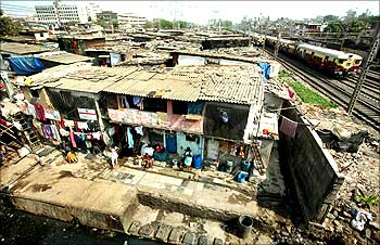 A general view of Mumbai's Dharavi, considered Asia's biggest slum.
