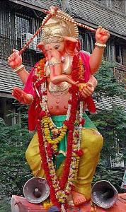 A Ganapati idol