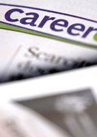 A jobs' column in a newspaper