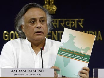 Jairam Ramesh, Union Minister of State for Environment and Forests.