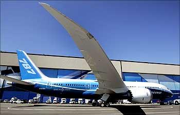 A Boeing 787 aircraft.