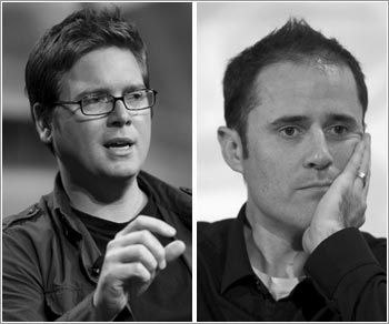 Twitter founders Biz Stone (left) and Evan Williams.