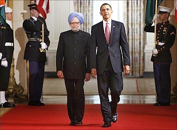 Prime Minister Manmohan Singh with US President Obama.