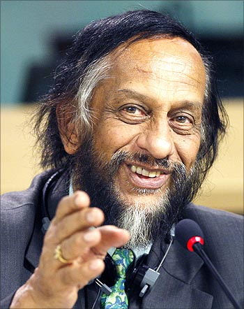 Dr Rajendra Pachauri, chairman of the Nobel Peace Prize-winning IPCC.