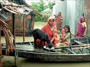 Flood in Bangladesh.