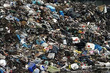 A garbage dump.