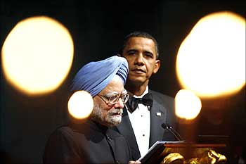 US President Barack Obama listens to Prime Minister Manmohan Singh at a meeting at the White House.