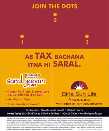 Birla Sun Life Insurance advt.