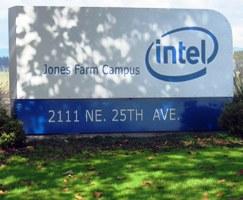 Intel signboard