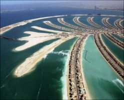 An aerial view of The Palm Island Jumeirah