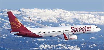 A SpiceJet aircraft.