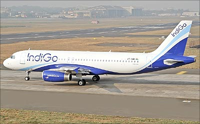 IndiGo aircraft.