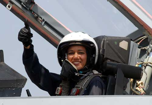 Suman Sharma is the first Indian woman to fly as a co-pilot on an F-16IN Super Viper.