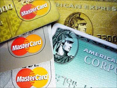American Express and MasterCard credit cards are shown in Washington. Jim Bourg/Reuters