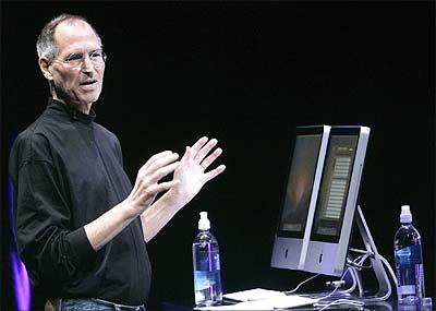 Apple Inc CEO Steve Jobs speaks at Apple's Let's Rock media event in San Francisco, California September 9, 2008