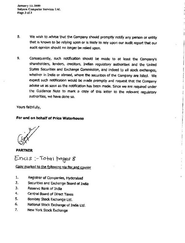 PwC's letter to new Satyam board - Rediff com Business