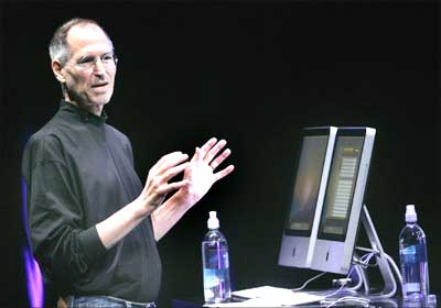 Steve Jobs speaks at an Apple event.