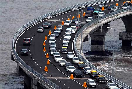 Traffic Jam on sea link