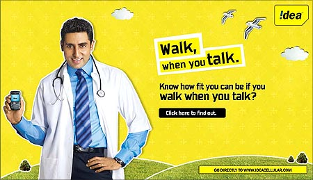 Idea Cellular's latest advertisement takes the health route.