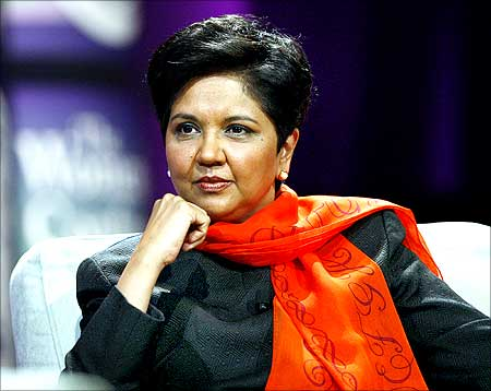Indra Nooyi, chairman and CEO of PepsiCo, takes part in a conversation on leadership.