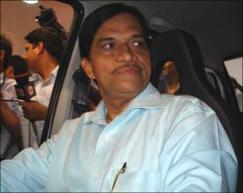Ashok Vichare in his Tata Nano.