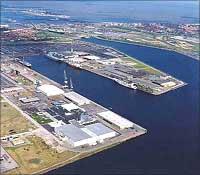 Belgian port of Zeebrugge