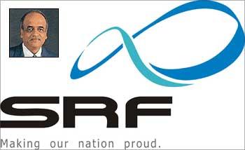 SRF logo,  Arun Bharat Ram (Inset).