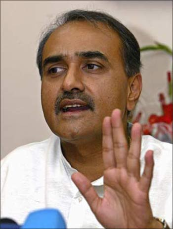 Civil Aviation Minister Praful Patel.