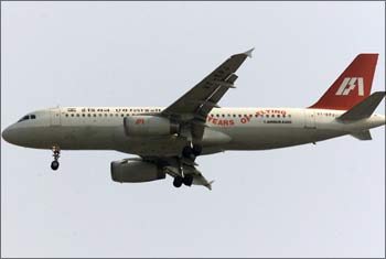 An Indian Airlines aircraft.